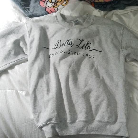 Gildan Sweaters - delta zeta crew neck